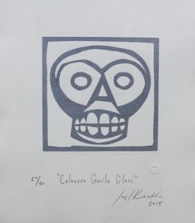 """Calavera Gorila glass"" Joel Rendón"
